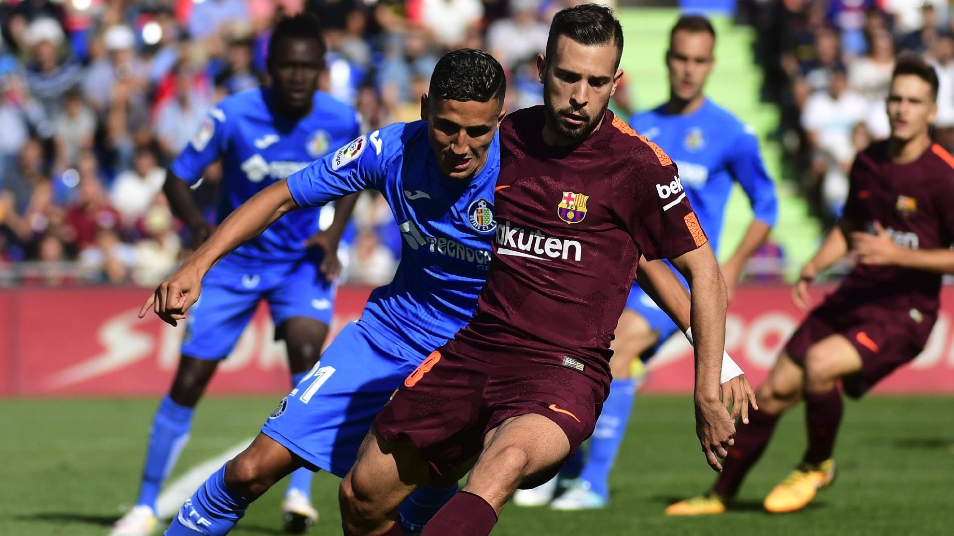 Jordi Alba Faycal Fajr Getafe Barcelona LaLiga 16092017