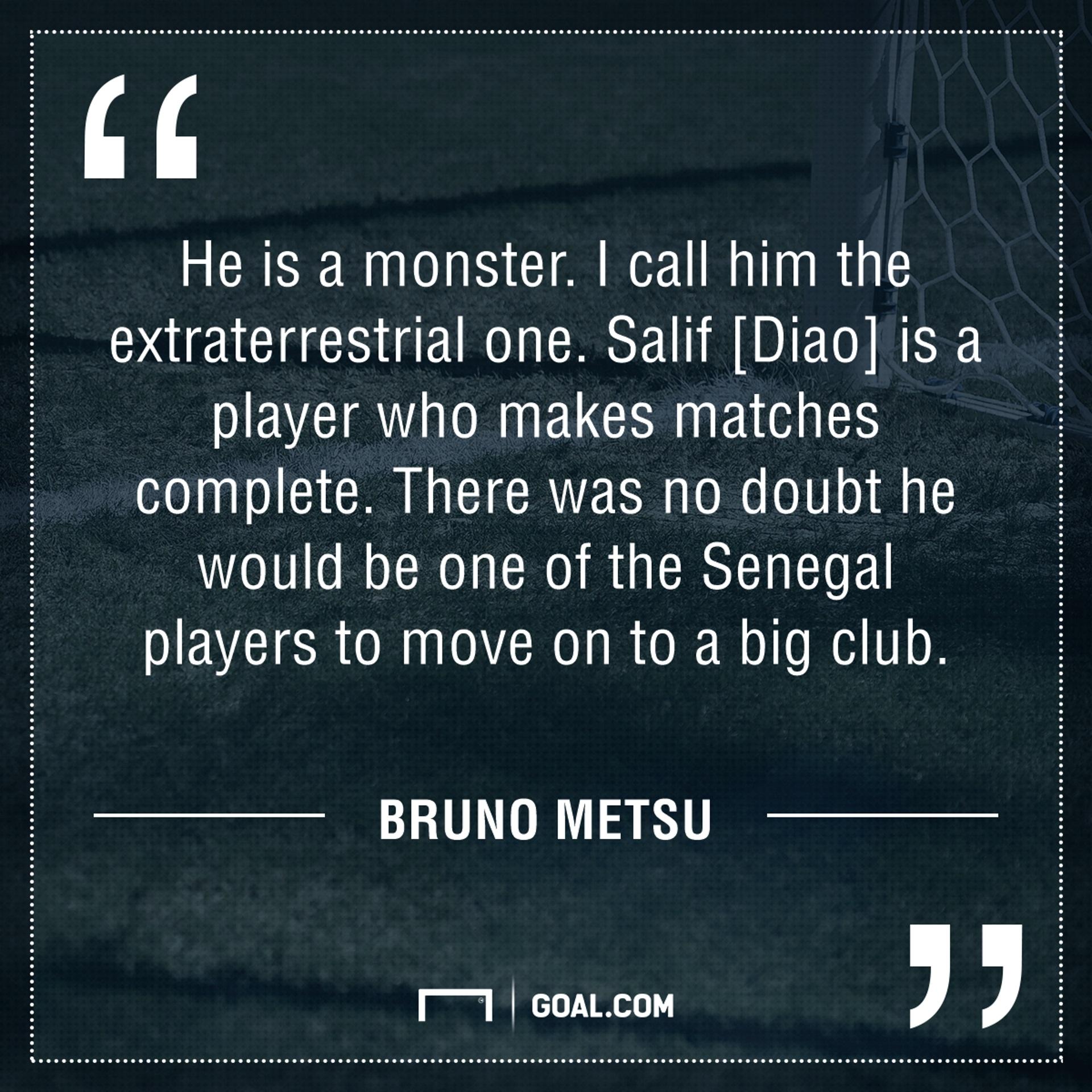 Bruno Metsu on Salif Diao