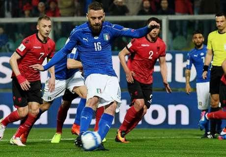 พลุเกือบทำป่วน! อิตาลีอัดแอลเบเนีย 2-0