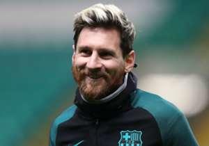 Messi em treino do Barcelona