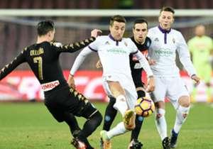Callejòn in azione contro la Fiorentina