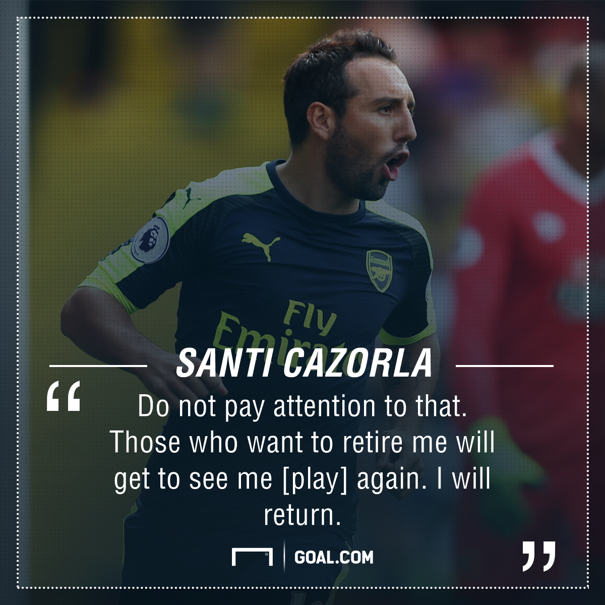 Santi Cazorla Arsenal retirement