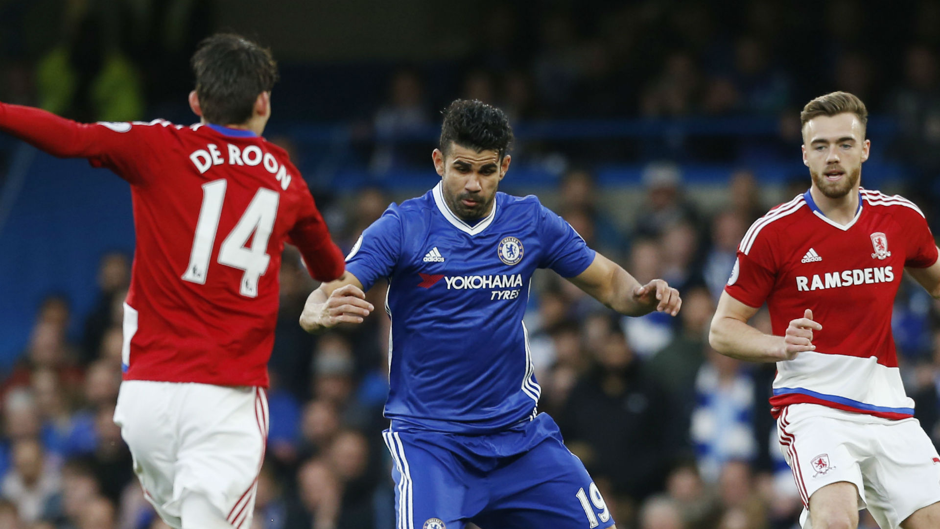 Premier League: Chelsea-Middlesbrough 3-0, Conte ad un passo dal titolo