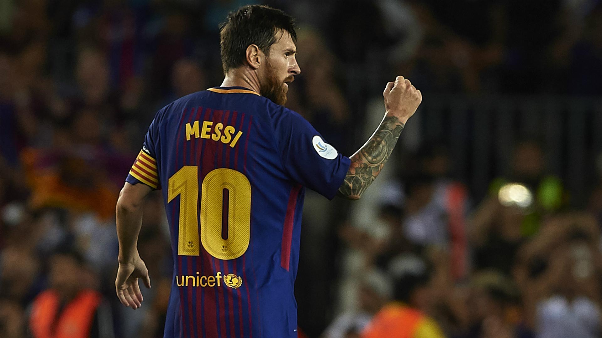 Lionel Messi Barcelona Supercopa de Espana