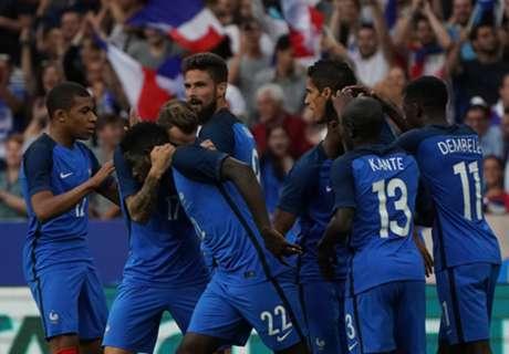 Amistoso: França 3 x 2 Inglaterra
