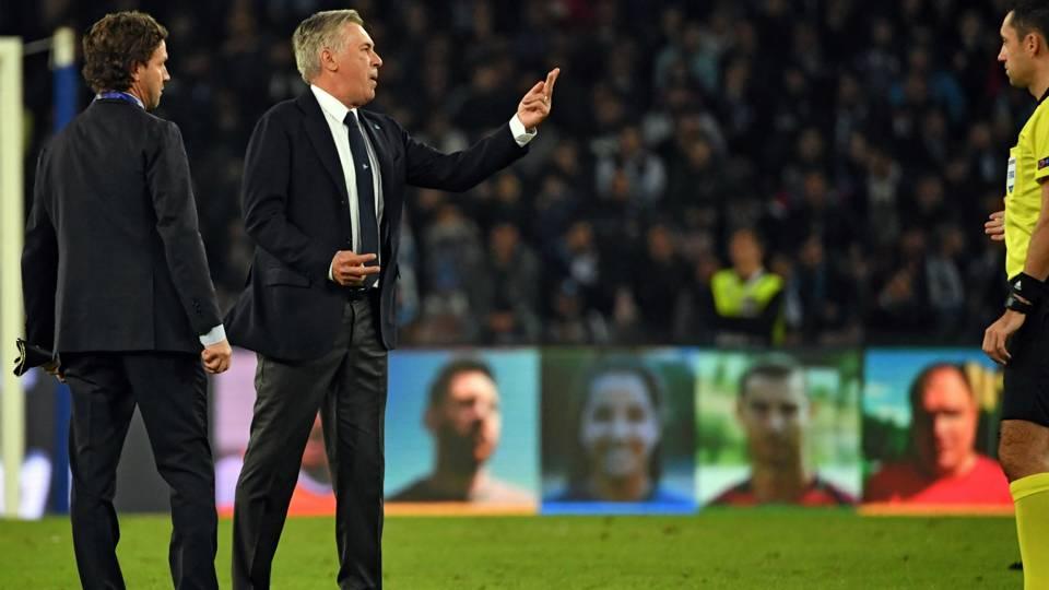 Carlo Ancelotti Napoli PSG Champions League