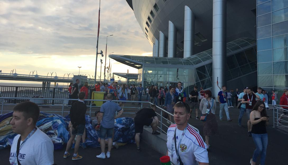 Krestovsky Stadium (Saint Petersburg) russian fans