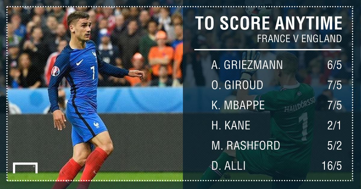 GFX France England scorer betting