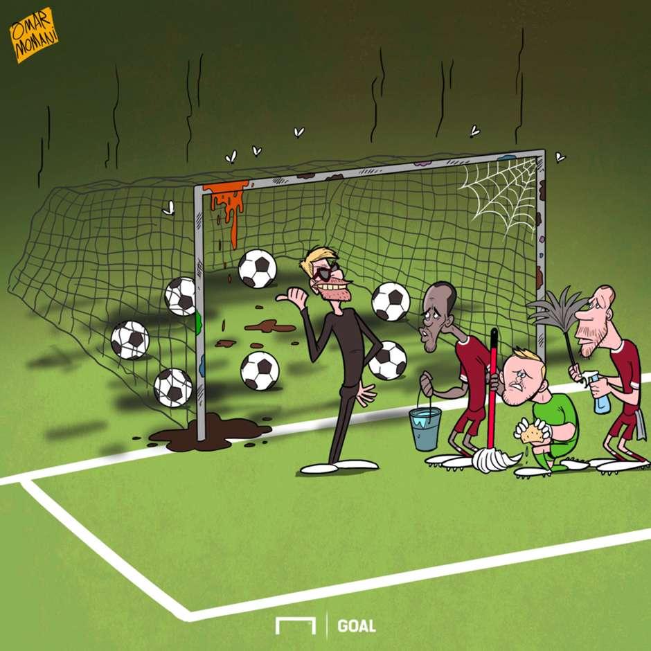 Liverpool's Dirty Sheet Cartoon