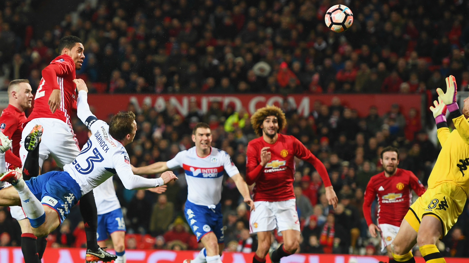 Smalling Manchester United Wigan FA Cup