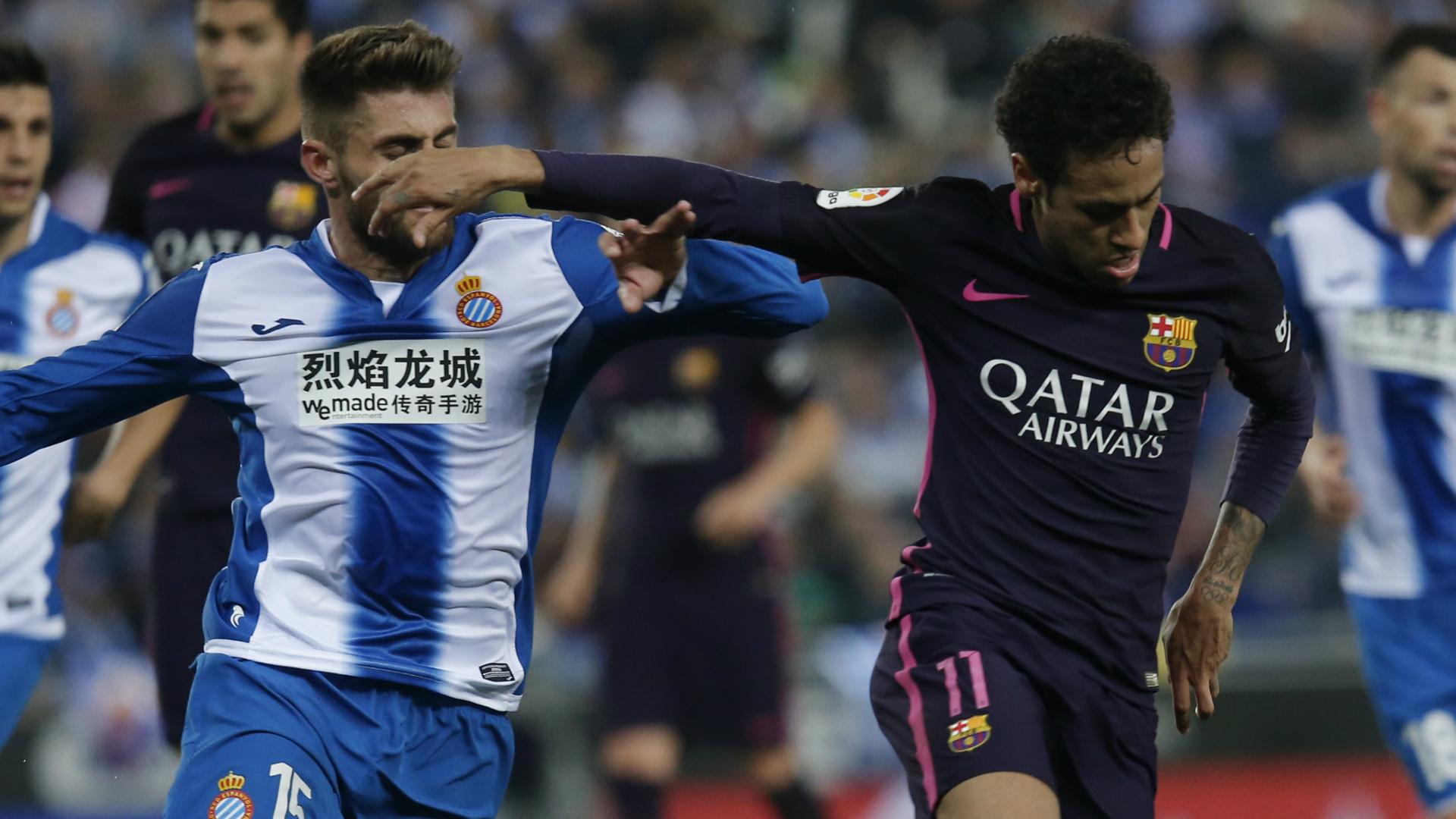 Neymar David López Espanyol Barcelona LaLiga 29042017