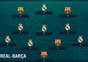 Le Real Madrid et le Barça se sont donnés rendez-vous ce dimanche au Bernabeu (20h45). Quels joueurs survivraient à une fusion des deux équipes ?