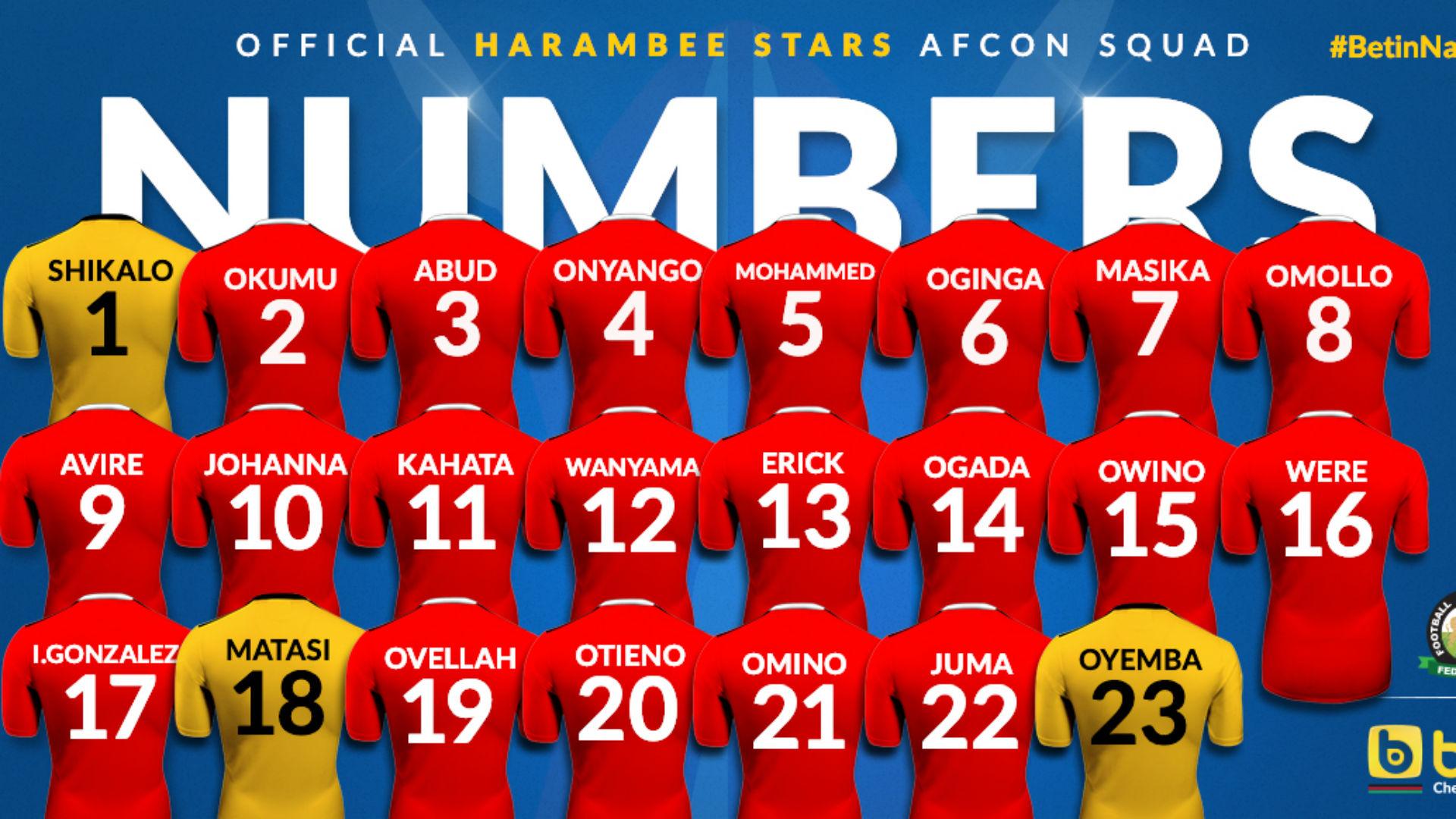 Afcon 2019: Harambee Stars kits against Algeria revealed