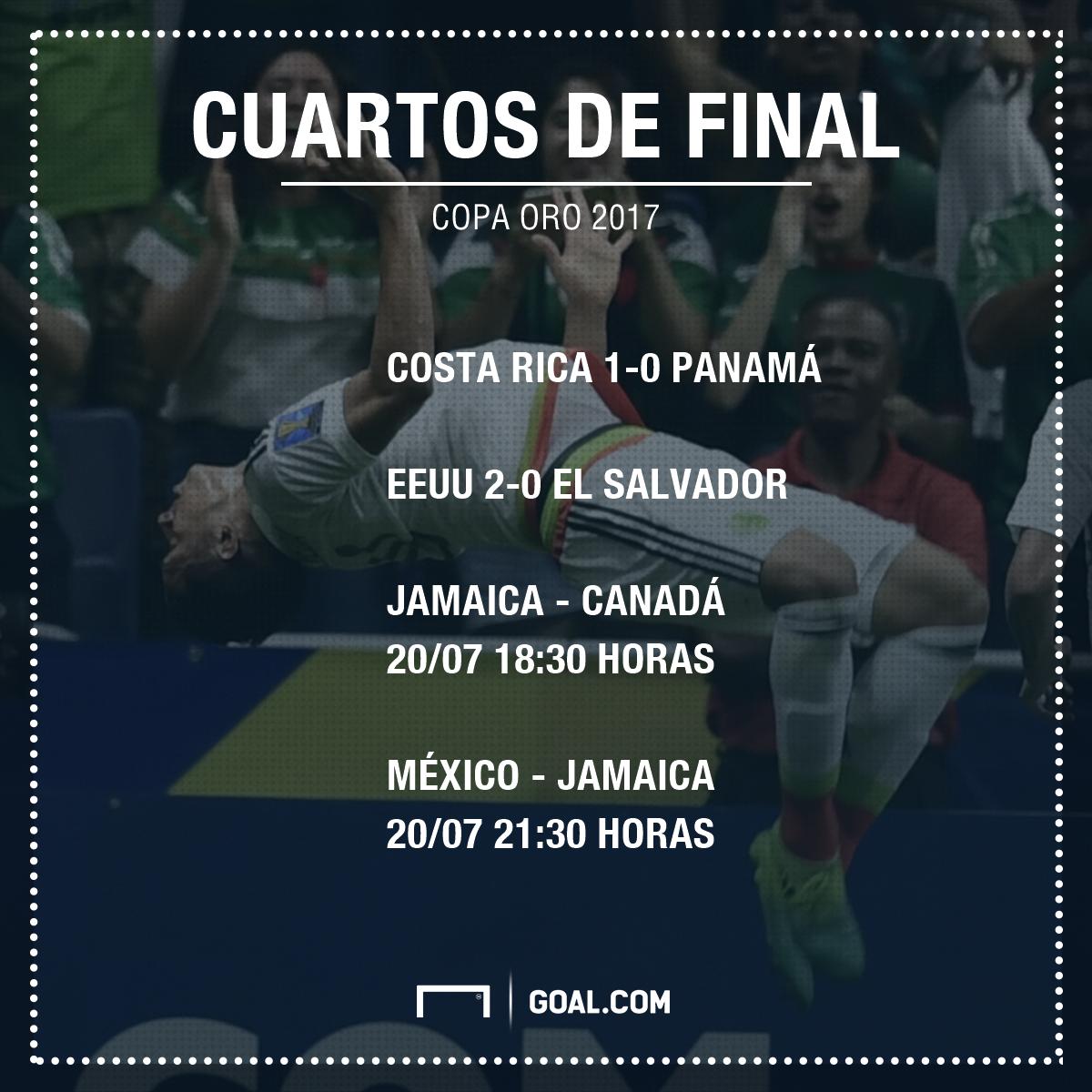 Los cuartos de final de la copa oro 2017 for Cuartos de final coac 2017