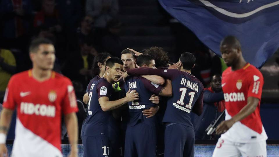 PSG celebration against Monaco