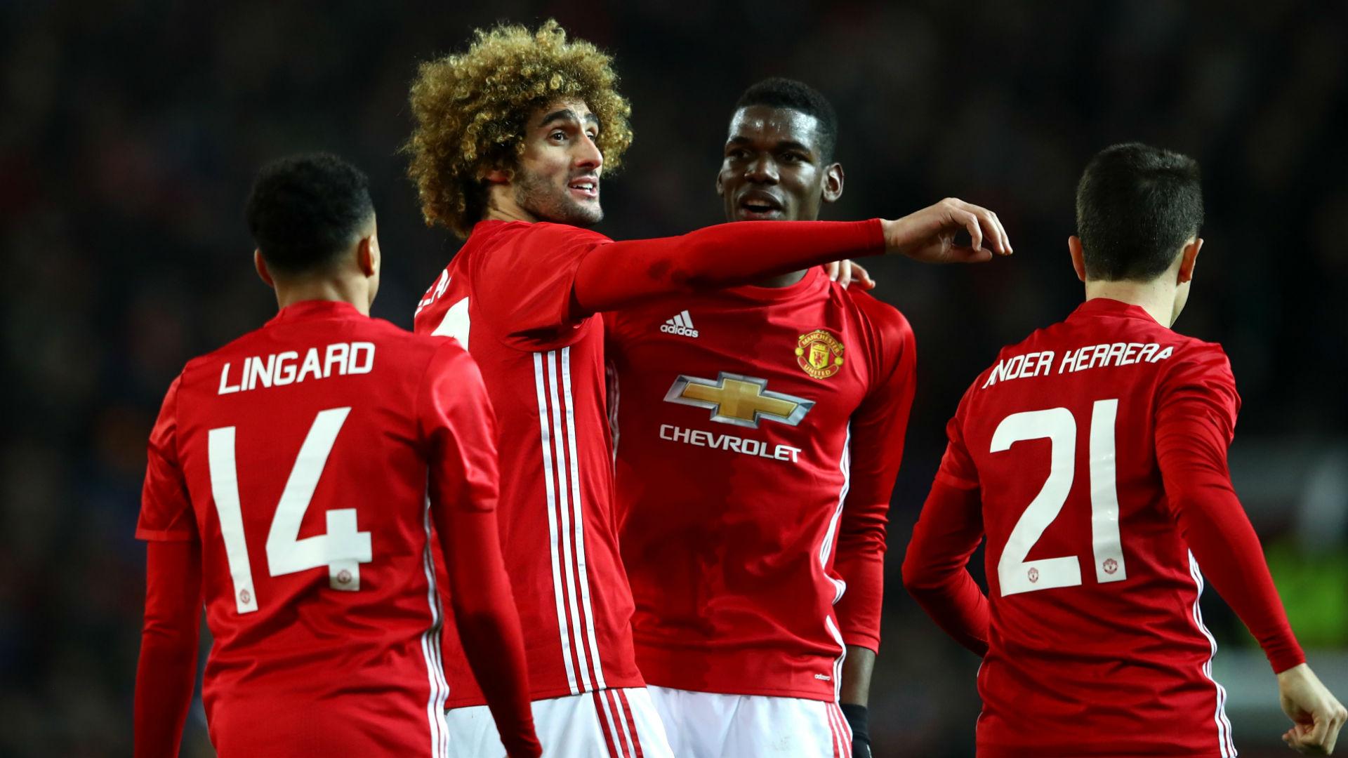 Marouane Fellaini Paul Pogba Manchester United