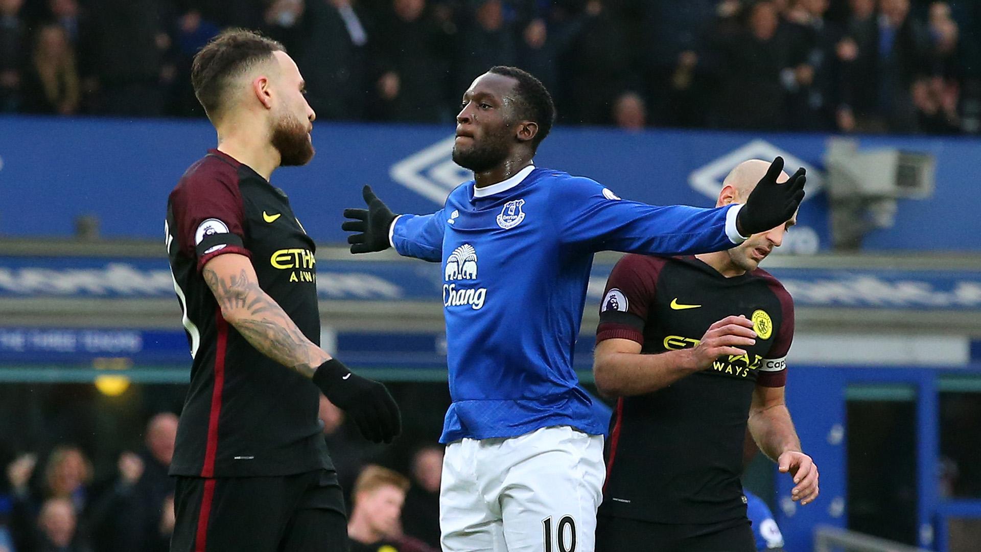 Romelu Lukaku Everton Manchester City Premier League
