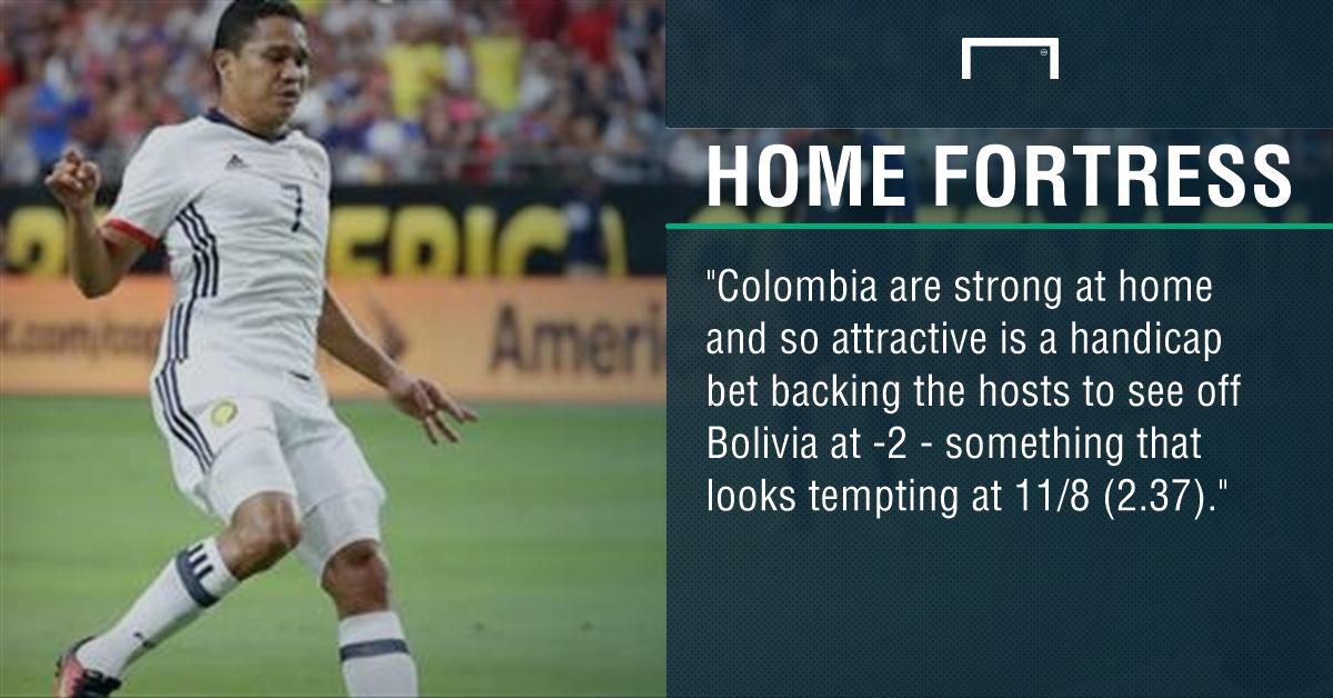 GFX Colombia Bolivia betting