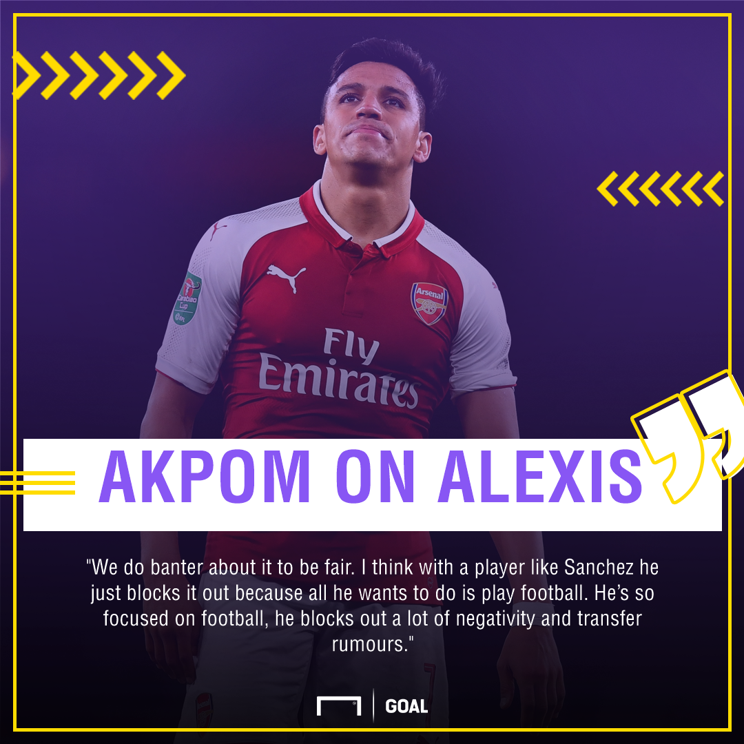 Chuba Akpom Alexis Sanchez Arsenal transfer banter