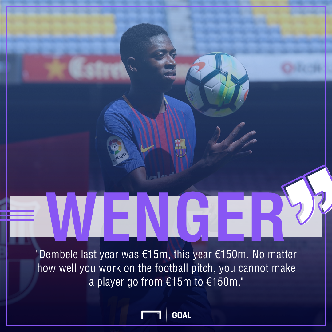 Wenger on Dembele quote gfx