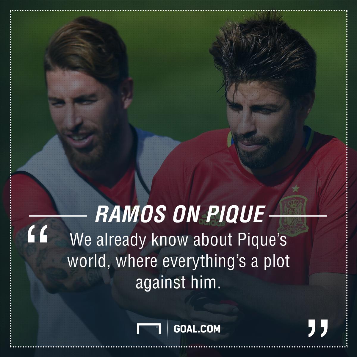 GFX Info Sergio Ramos Gerard Pique quotes