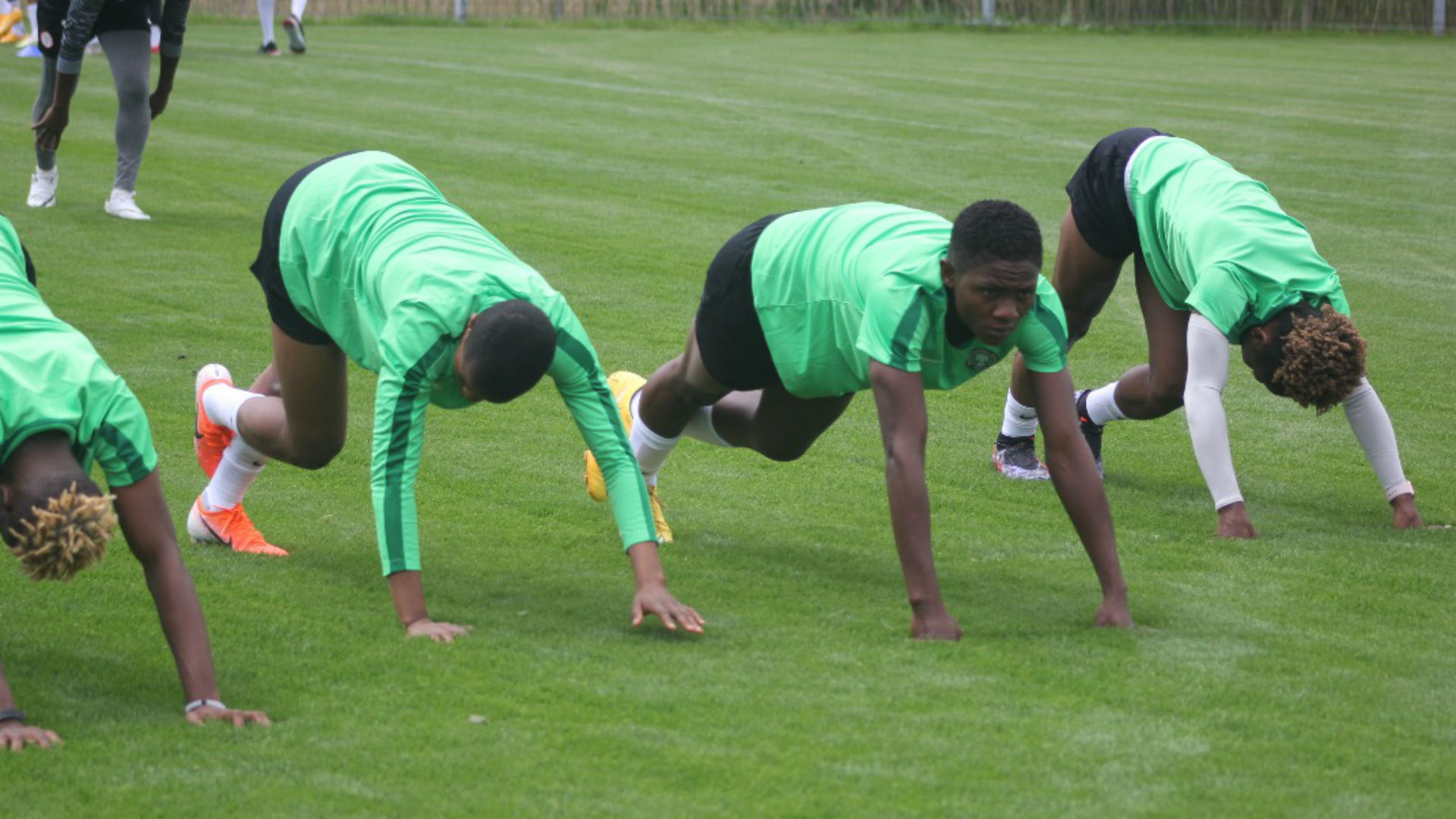 GALLERY: Nigeria women's squad in first training session in Austria