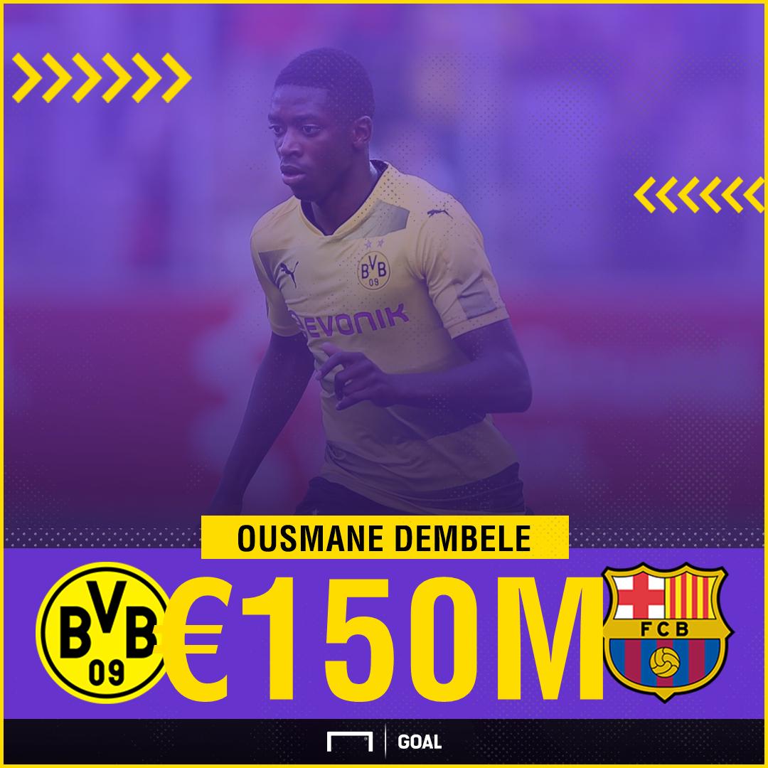 Barcelona sign Ousmane Dembele: Borussia Dortmund sell star for £96m