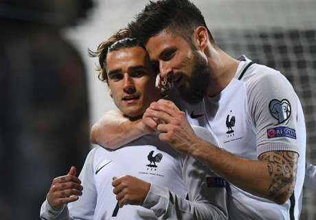 Griezmann backs Giroud for France