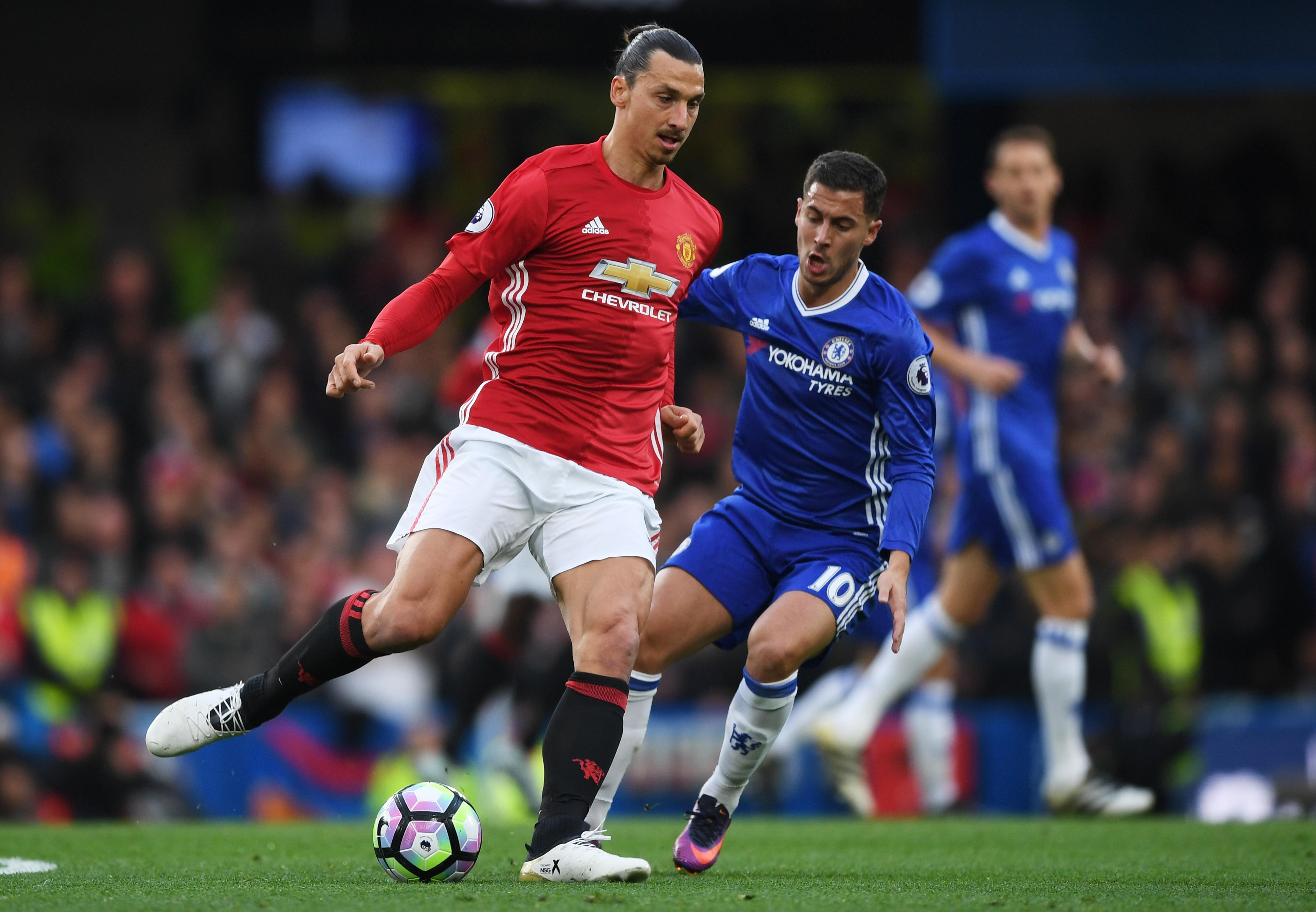 Zlatan Ibrahimovic Eden Hazard Chelsea Manchester United 23102016