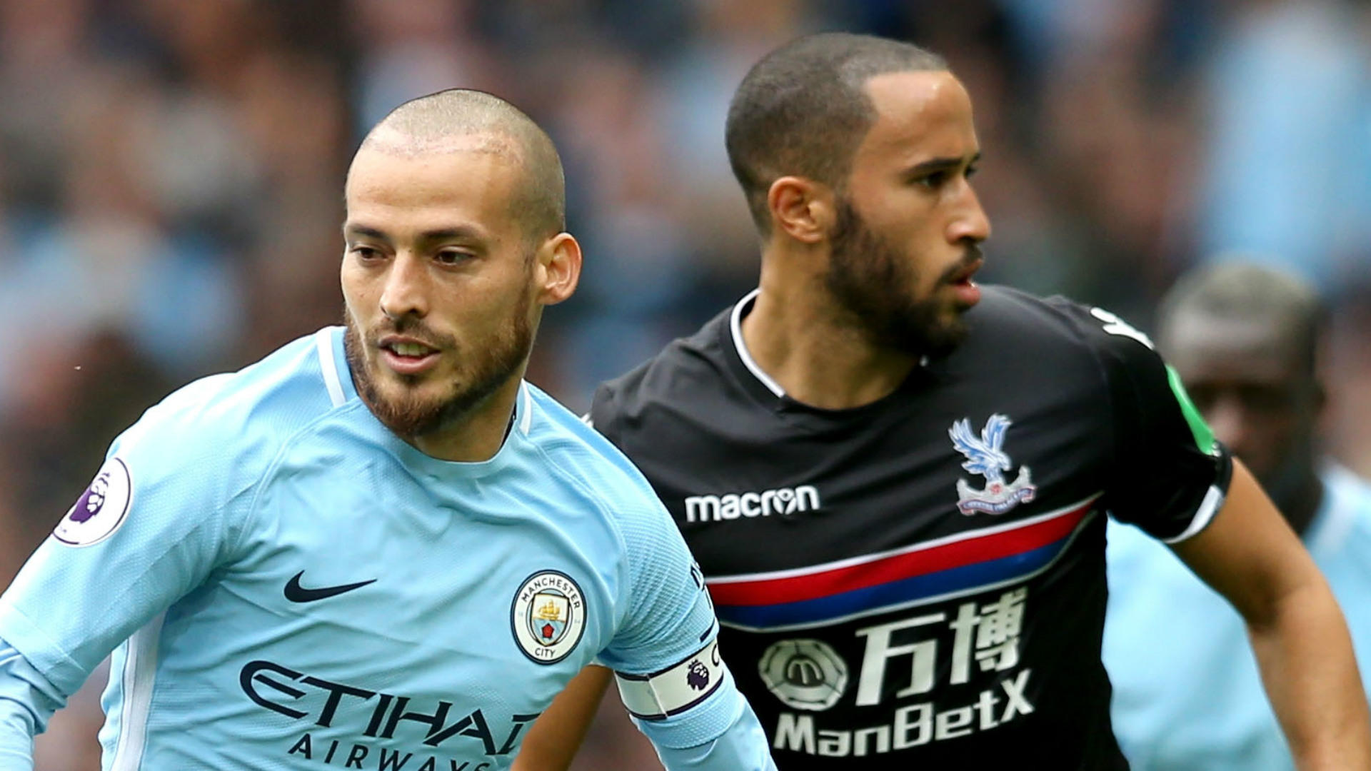 David Silva Andros Townsend Manchester City Crystal Palace 2017