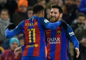 25) Barcelona 3 x 1 Athletic Bilbao | Copa do Rei | 12/01/2017 | O atacante e craque do Barcelona marcou o terceiro gol da vitória, que classificou o Barcelona. Neymar e Suárez marcaram os outros dois.