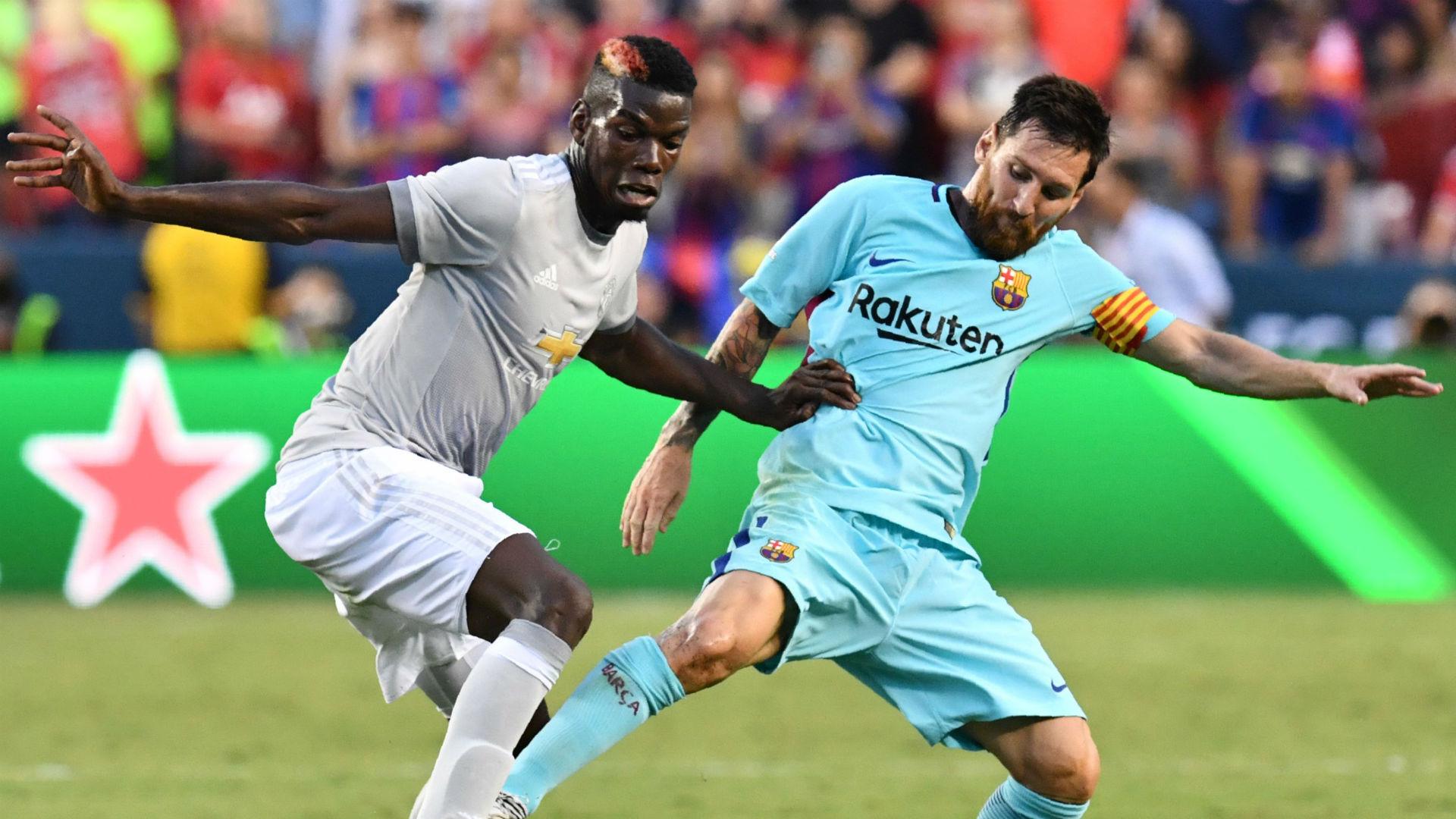 Paul Pogba Lionel Messi Barcelona Manchester United ICC