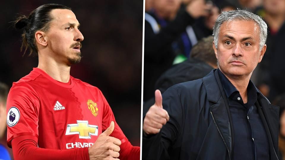 Zlatan Ibrahimovic, Jose Mourinho, Man Utd
