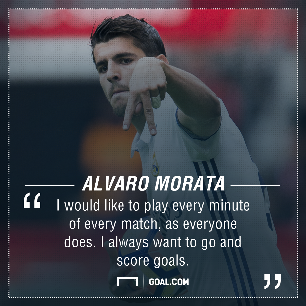 Alvaro Morata goals game time