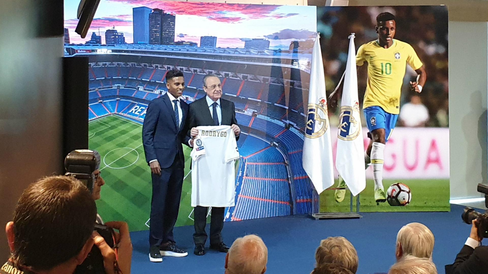 Real Madrid, Florentino Pérez souhaite la bienvenue à Rodrygo