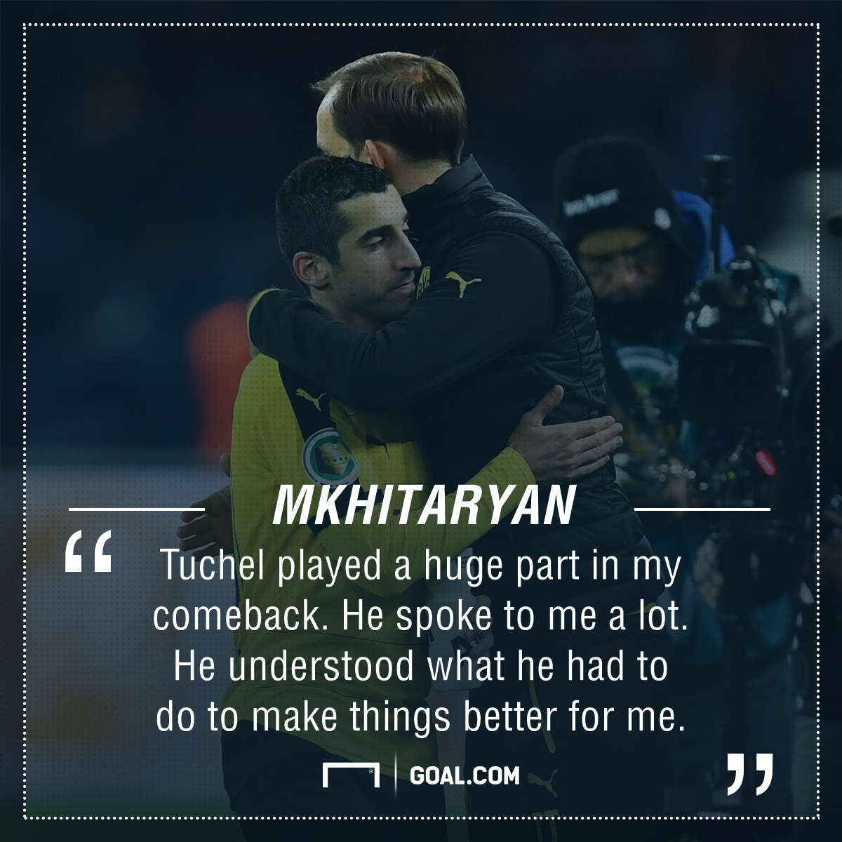GFX PS Henrick Mkhitaryan on Thomas Tuchel