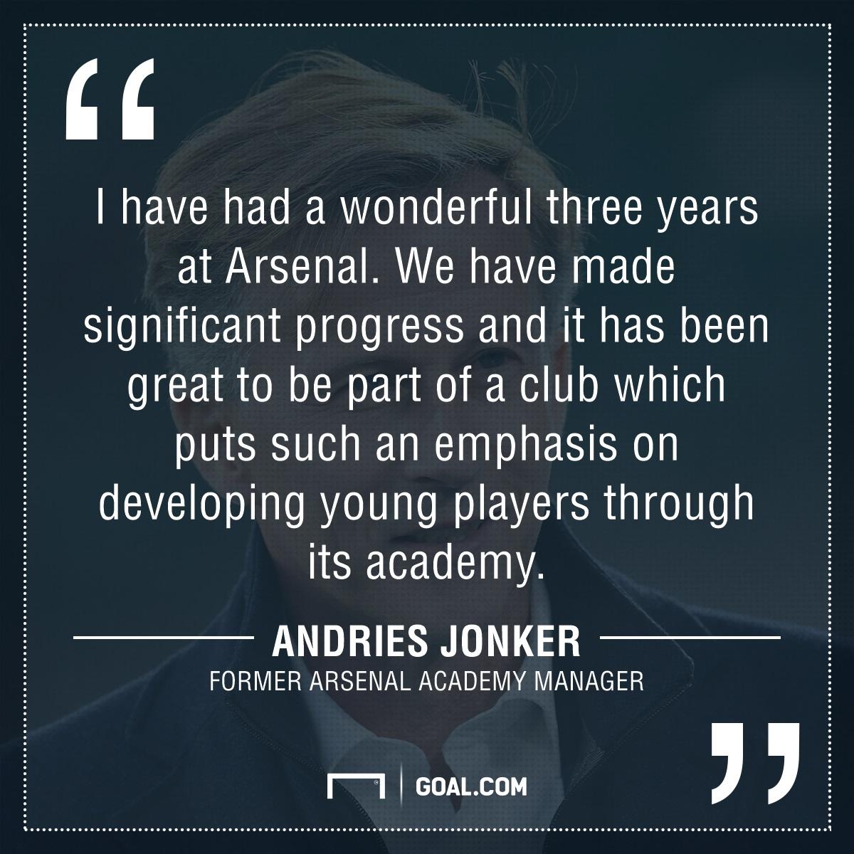 GFX Andries Jonker Arsenal academy