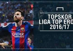 Musim 2016/17 telah berakhir dan sepakbola Eropa akan rehat untuk sementara waktu. Sebagai sajian penutup, Goal merilis daftar topskor di liga-liga top benua biru musim ini. Siapa saja?