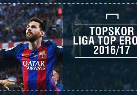 Topskor Di Liga Top Eropa 2016/17