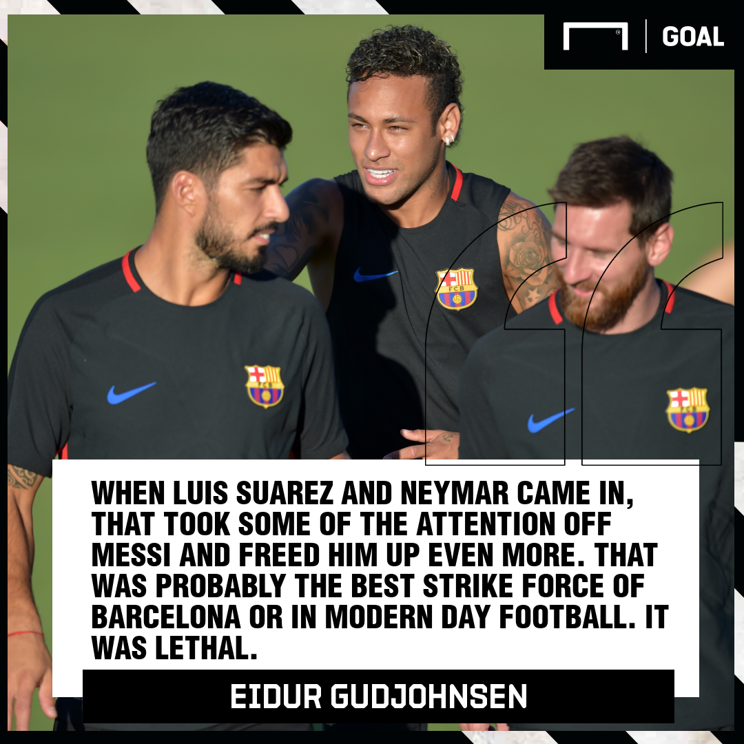 Barcelona wanted Neymar to take pressure off Messi - Gudjohnsen