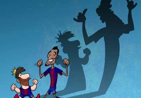 CARTOON: Paulinho channels his inner Ronaldinho!