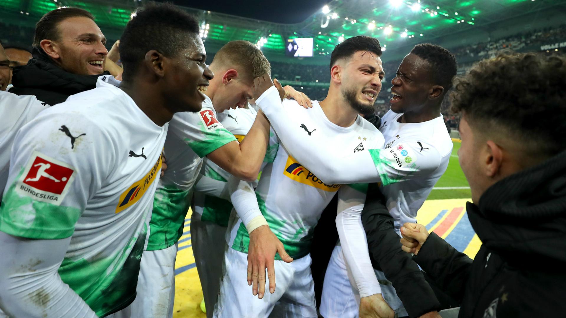 Algeria's Bensebaini scores brace as Borussia Monchengladbach fight back to defeat Bayern Munich
