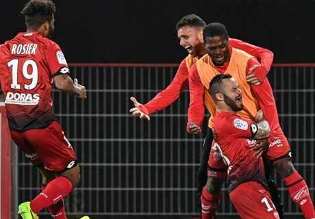 Dijon condamne Nancy, Bastia revient sur Lorient