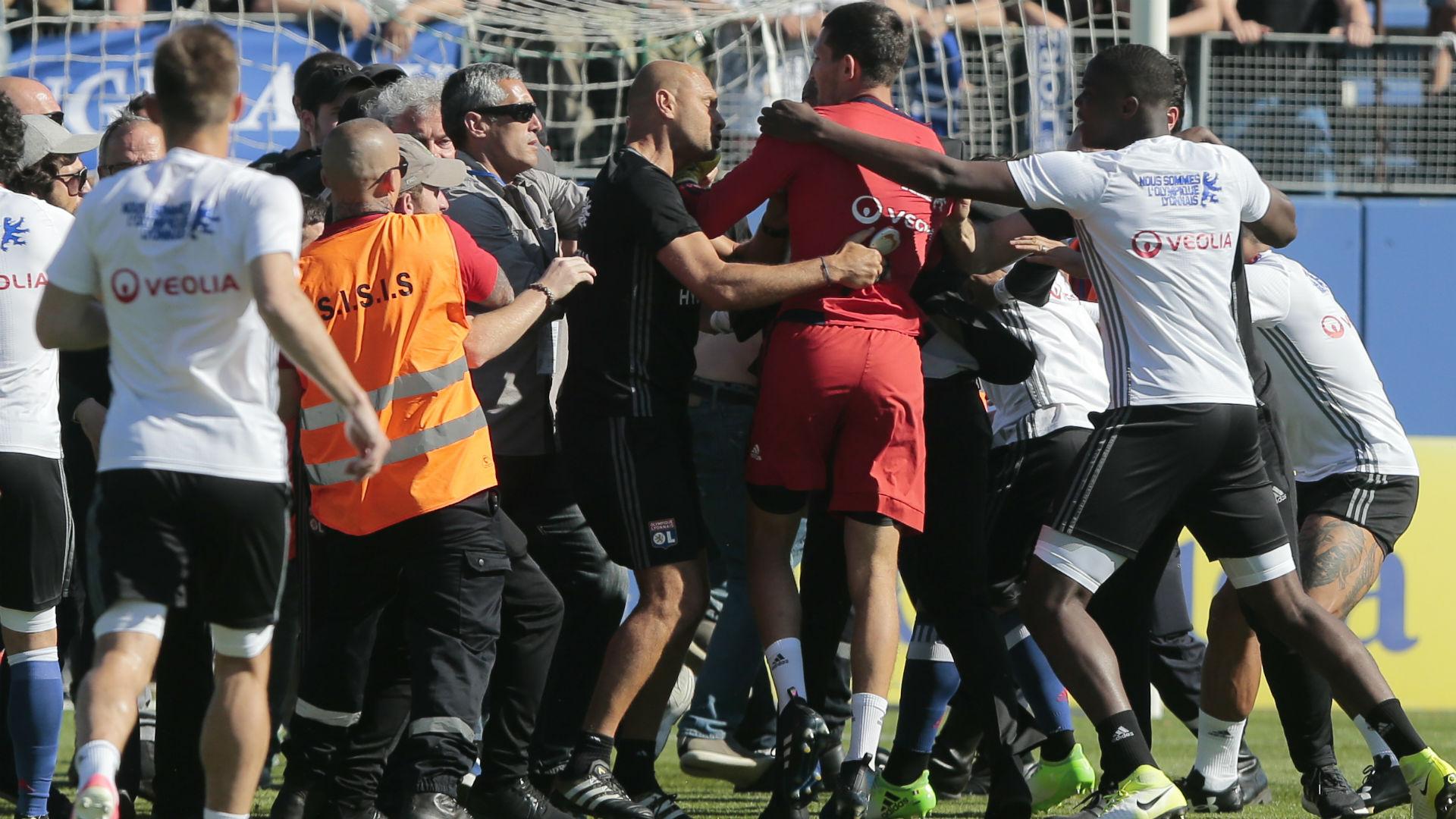 Ligue 1: les joueurs de l'Olympique lyonnais ont quitté le stade Furiani