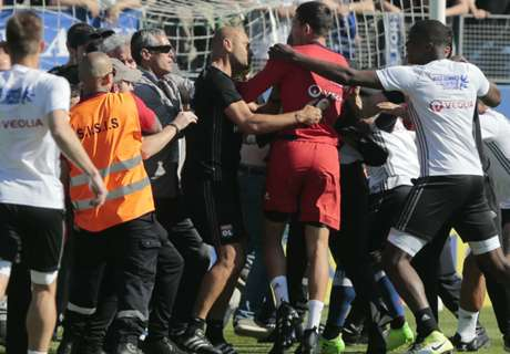 WATCH: Bastia fans attack Lyon players