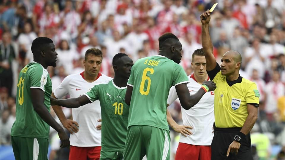 Senegal yellow card