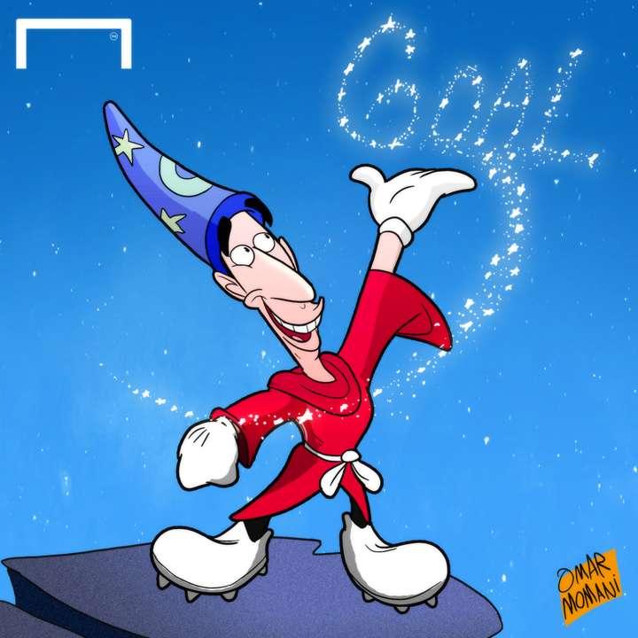 Cartoon - Mkhitaryan the magician
