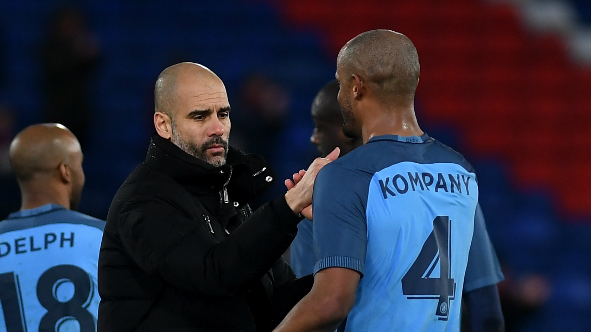 Guardiola Kompany Manchester City