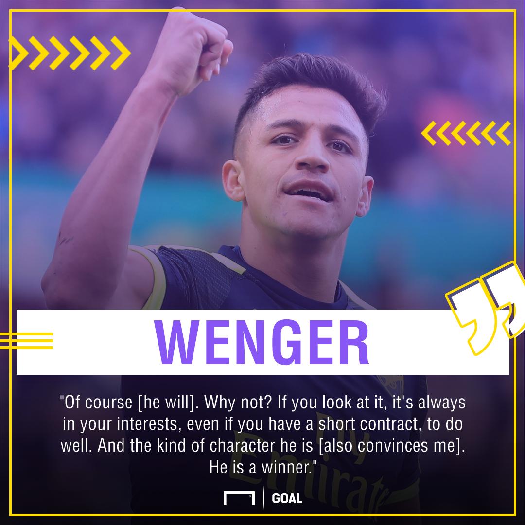 Alexis Sanchez Arsene Wenger Arsenal winner