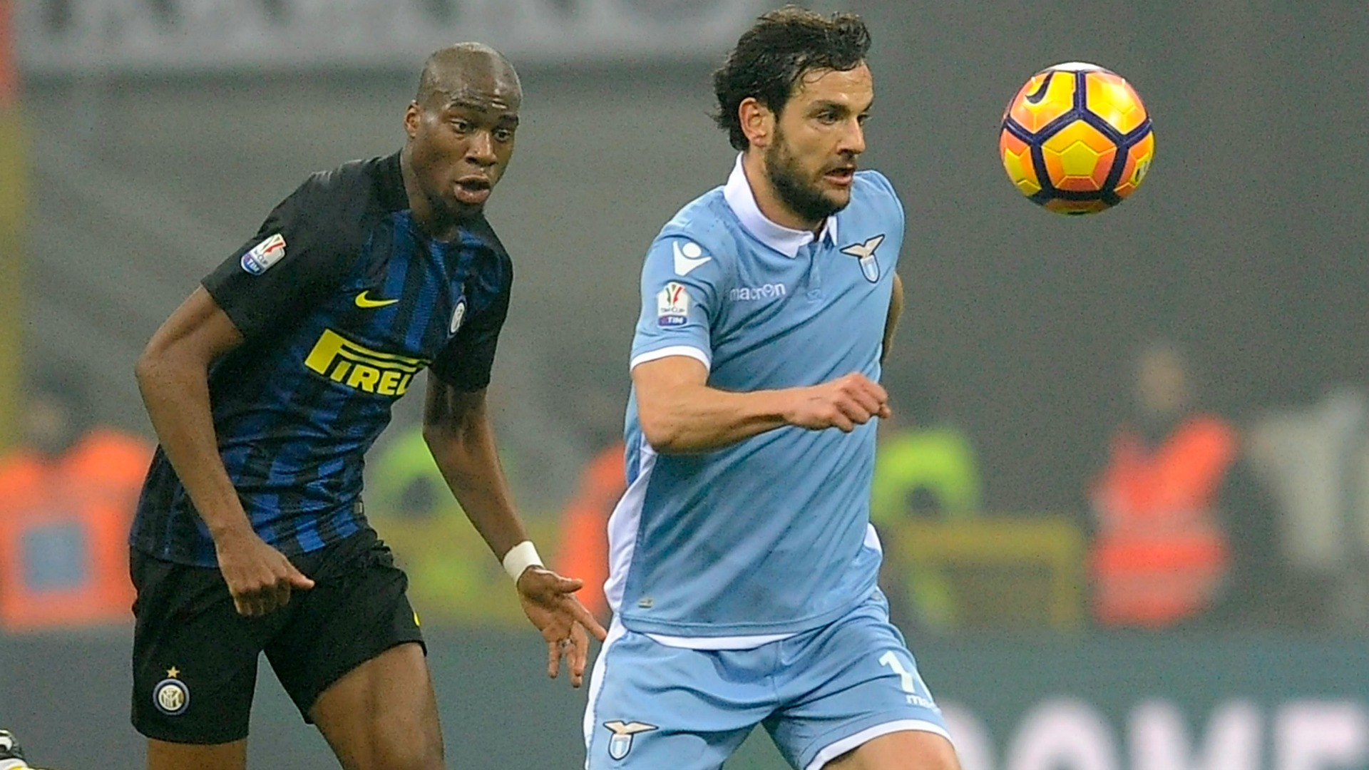 Geoffrey Kondogbia Marco Parolo Inter Lazio